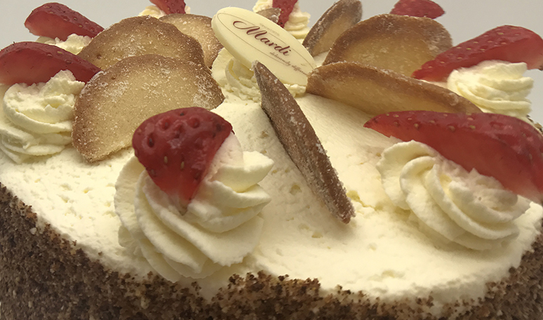 Strawberry Fresh Cream Gateau
