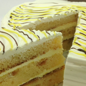 Lemon drizzle close up
