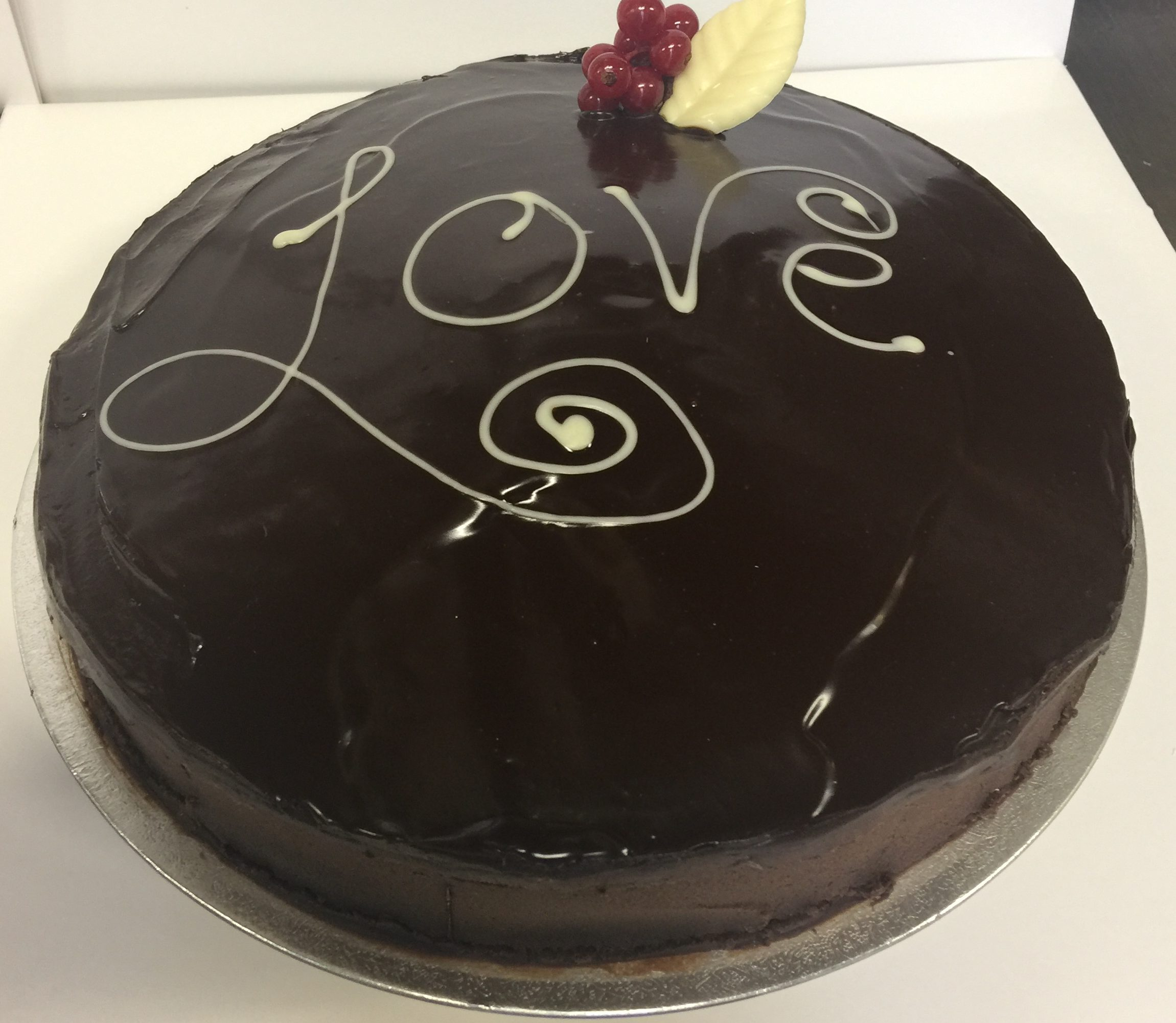 Mardi's Valentine Chocolate Ganache Gateau